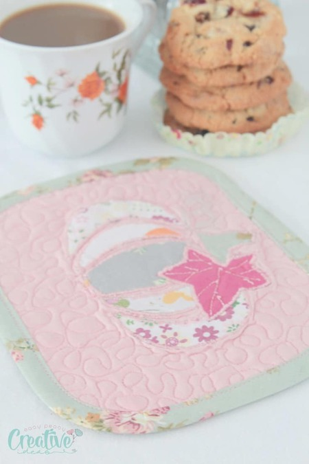 Pumpkin Mug Rug Sewing Tutorial