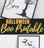 Halloween Boo printable art