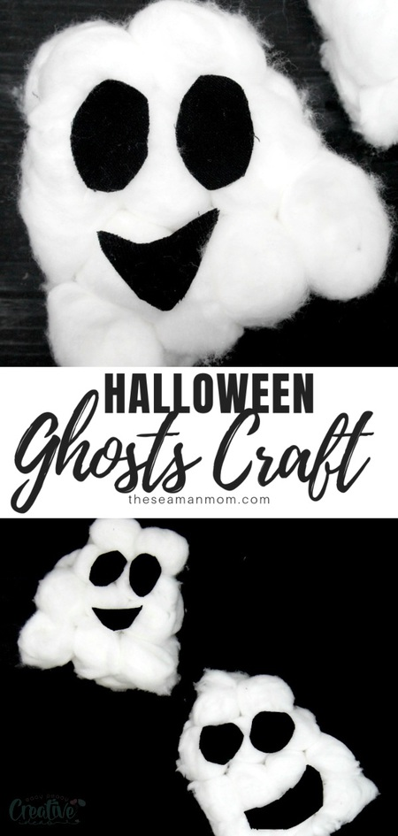 Fluffy ghosts DIY
