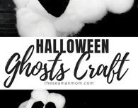 Fluffy ghosts DIY