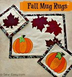 Autumn or Fall Mug Rug Pattern