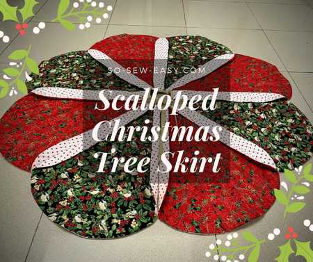 Scalloped Christmas Tree Skirt Free Pattern