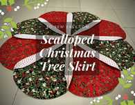 Scalloped Christmas Tree Skirt Free Pattern