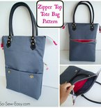 Zipper Top Tote – Free Bag Pattern