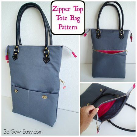 Zipper Top Tote – Free Bag Pattern