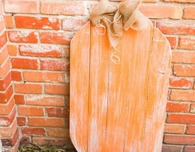 Outdoor Wooden Pumpkin Decor