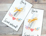 You're Scent-sational! Printable Valentines Cards with DIY Perfume Minis