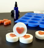 Easy Melt And Pour Soap Recipe with Solid Sugar Scrub Hearts