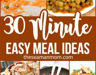 30 MINUTE MEAL IDEAS