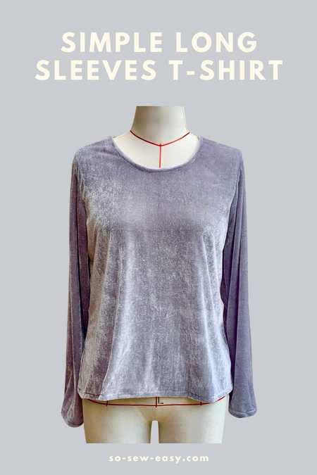 Simple Long Sleeves T-Shirt FREE Pattern