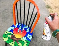A Chair That Survived California's Camp Fire Gets New Life With a Colorful Makeo
