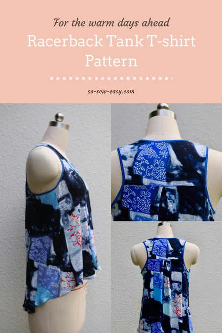 Racerback Tank T-shirt Free Sewing Pattern