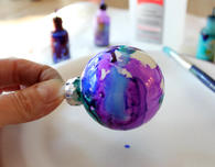 DIY Alcohol Ink Christmas Ornaments
