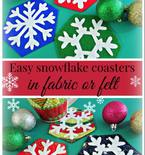 Easy Snowflake Coasters to Sew FREE Template
