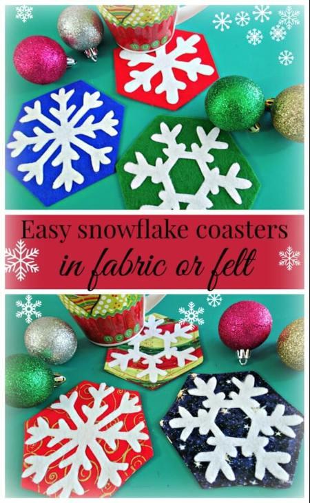 Easy Snowflake Coasters to Sew FREE Template