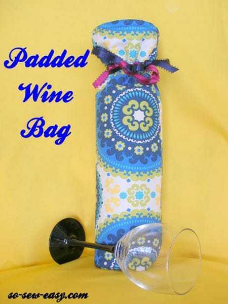Wine Bag Free Sewing Pattern