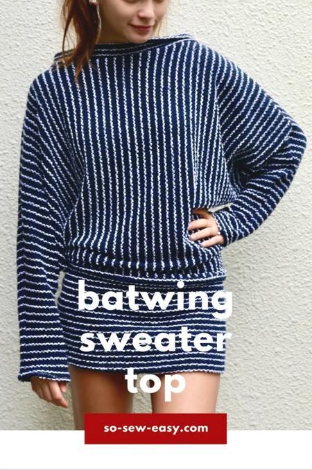 Batwing Sweater Top FREE Pattern