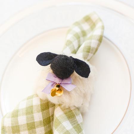 DIY Easter Sheep Napkin Rings