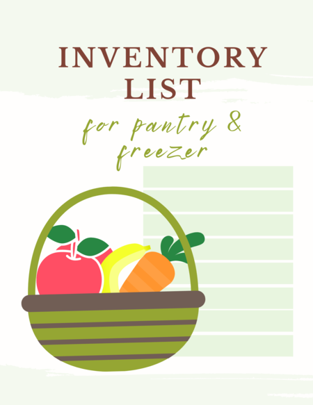 PANTRY INVENTORY PRINTABLE