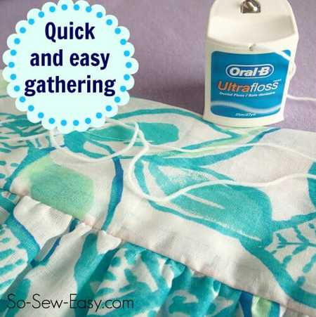 Quick & Easy Gathering with Dental Floss