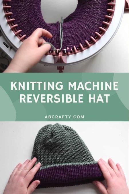 Sentro Knitting Machine Reversible Hat