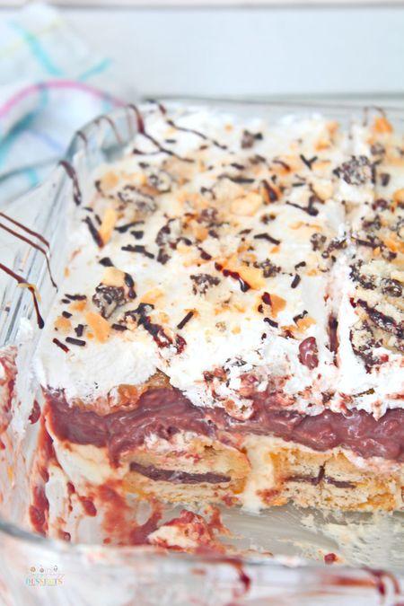 CHOCOLATE LASAGNA NO BAKE DESSERT