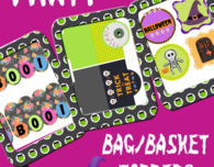 HALLOWEEN TOPPERS PRINTABLE PACK