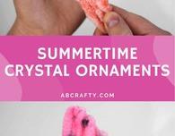 Borax Crystal Ornaments