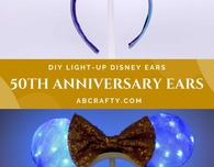 DIY Disney World 50th Anniversary Ears