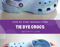 DIY Pastel Tie Dye Crocs