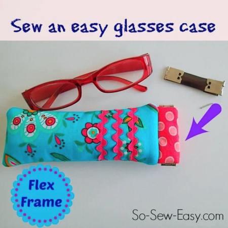 Reading Glasses Case Using a Flex Frame