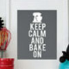 holiday baking art print