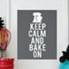 holiday baking art print