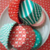 holiday baking cupcake liners