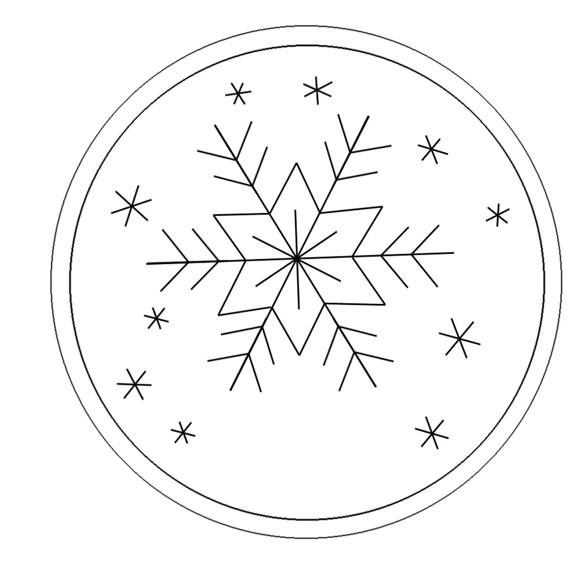 Paper Snowflake Patterns To Trace Trace the template with an