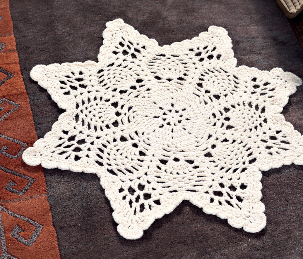 Chunky doily rug free crochet pattern craftfoxes zoom bankloansurffo Image collections