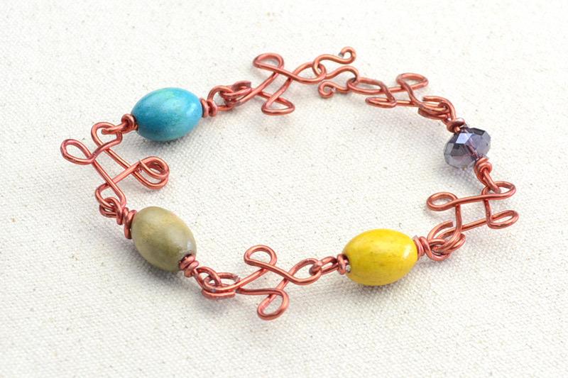 DIY Beaded Wire Bracelets - Craftfoxes