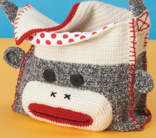 Crochet Sock Monkey Shoulder Bag Craftfoxes