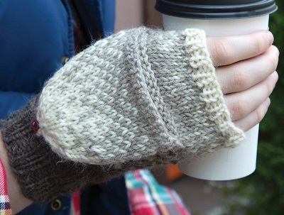 Knitting Pattern For Flip Top Mittens : Gradient Flip-Top Mittens (Free Knitting Pattern) - Craftfoxes
