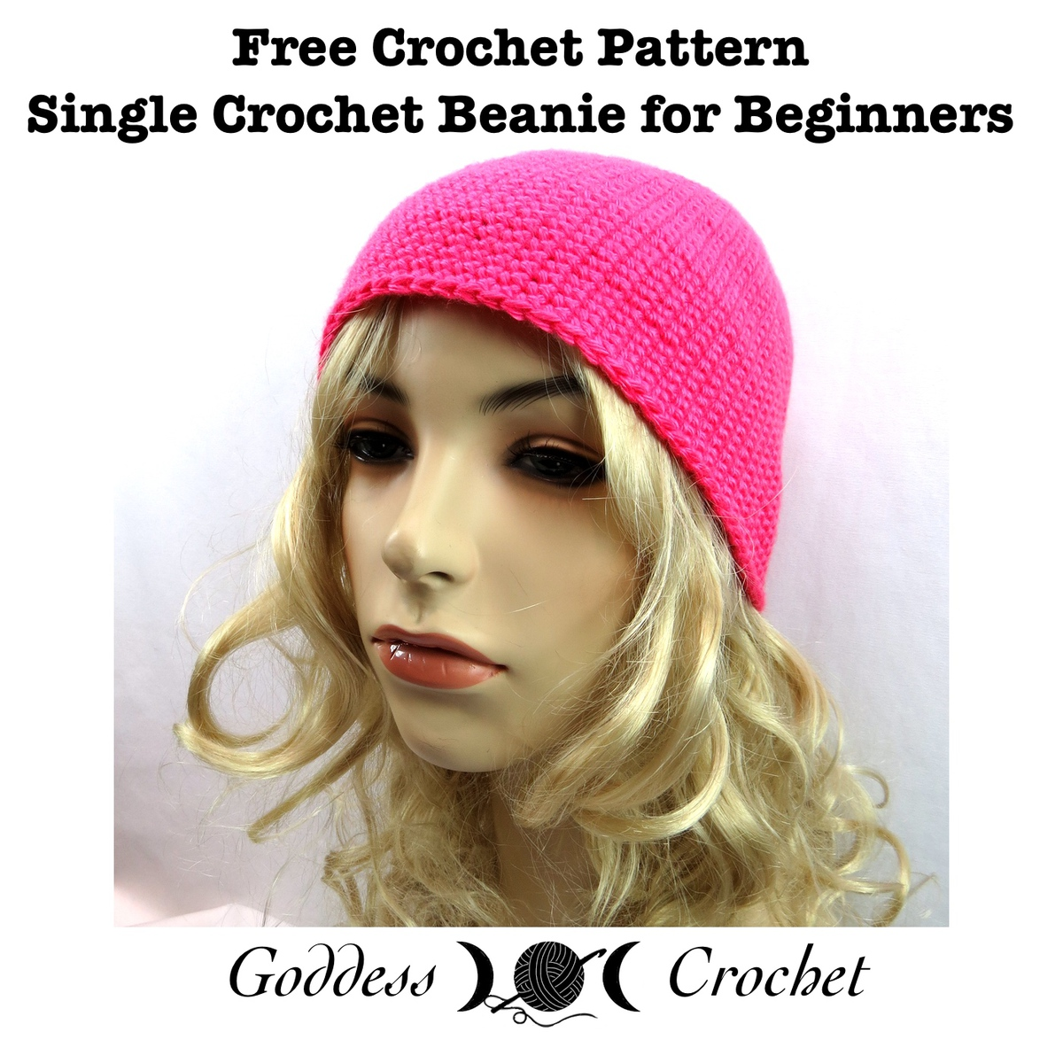Beginner Crochet Hat Tutorial : Single Crochet Beanie - Craftfoxes