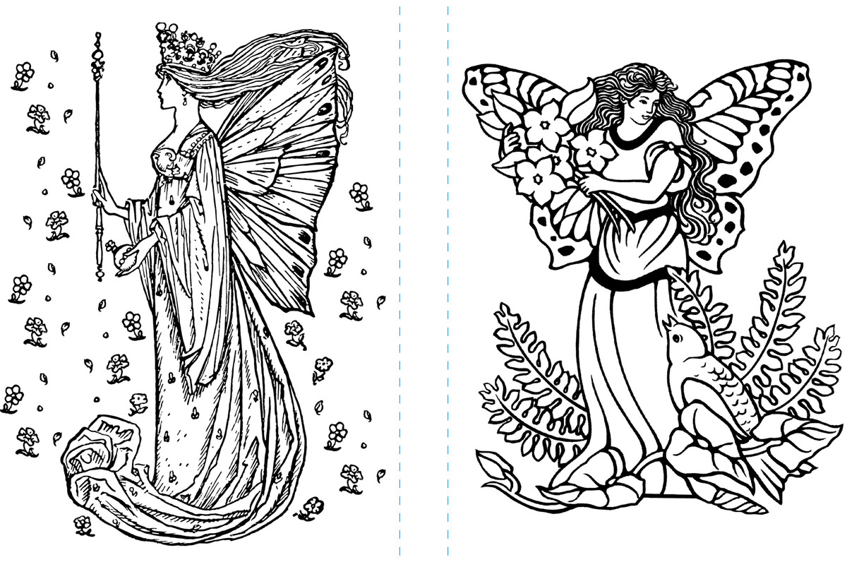 Fairyland Coloring Pages (Free Adult Coloring Book Pages