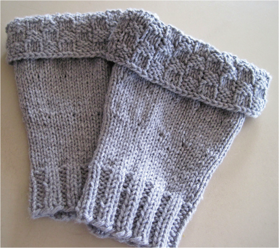 Basketweave Boot Cuffs (Free Knitting Pattern) - Craftfoxes