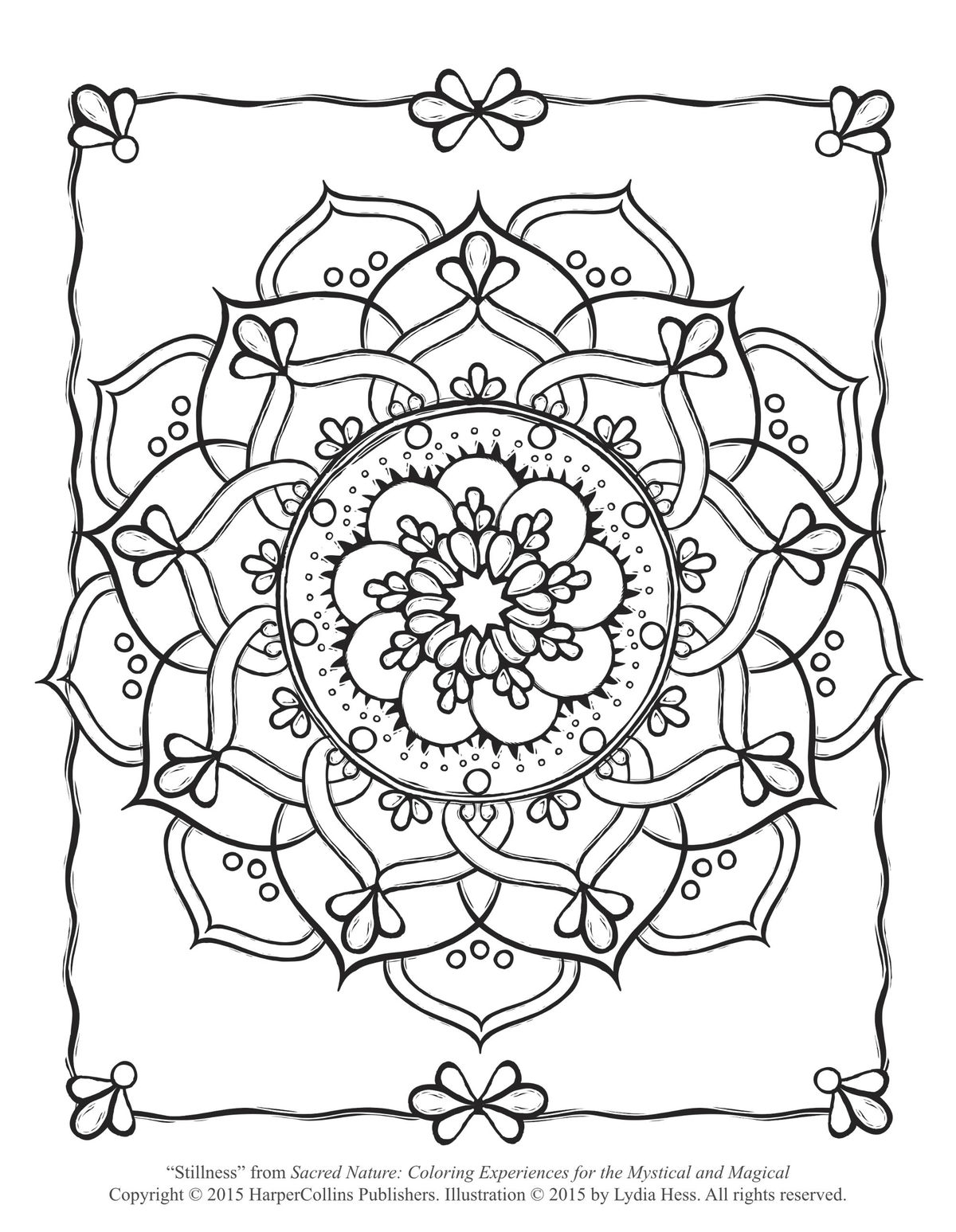 Sacred Flower Coloring Page (Free Adult Coloring Page ...