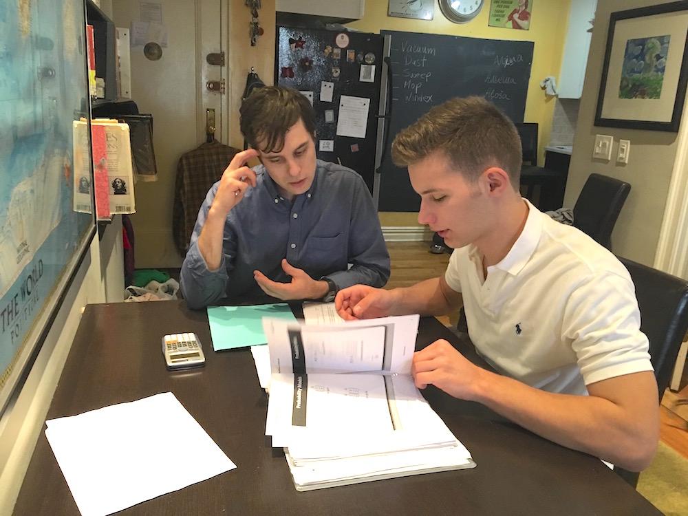 Craig tutoring student 1