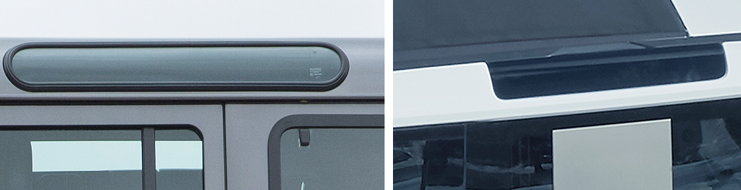 Land Rover Defender Alpine windows