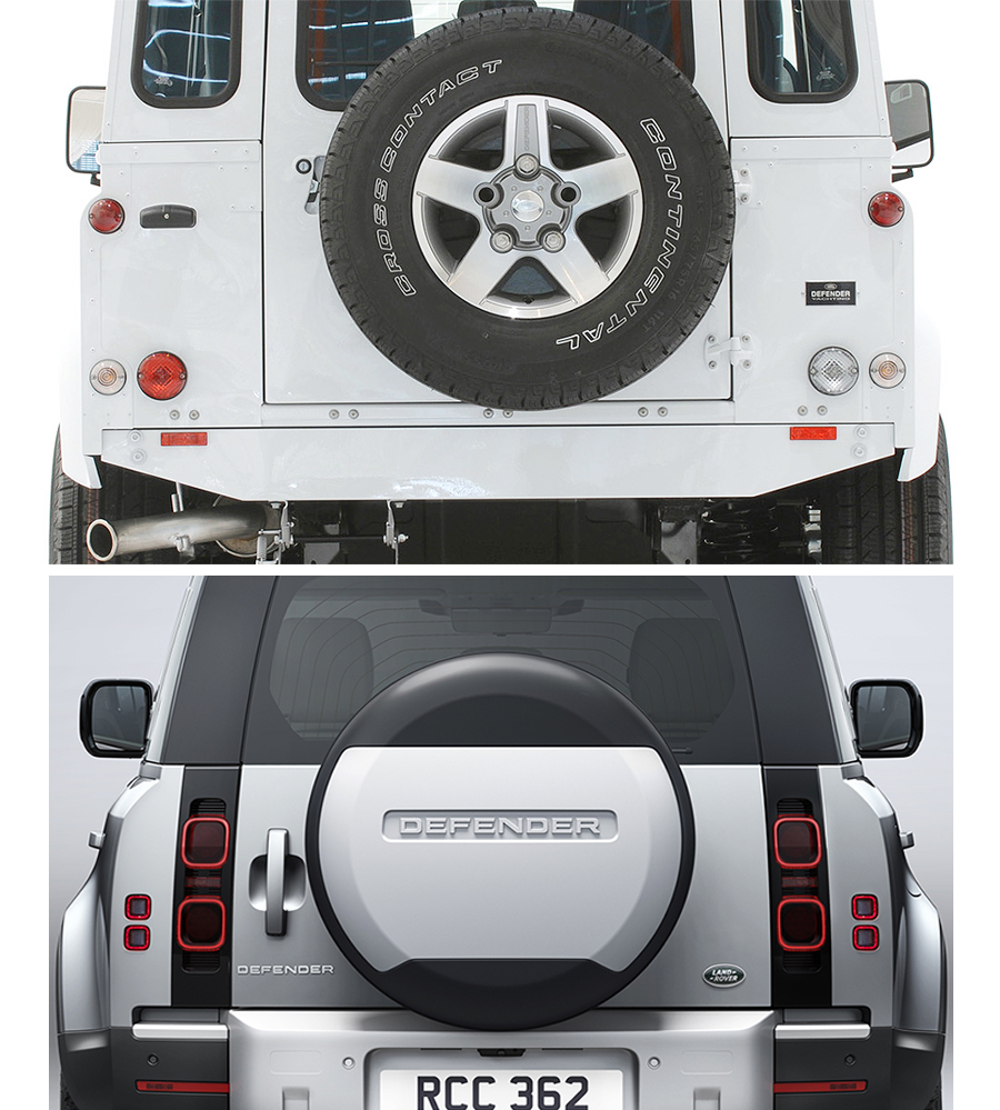 Land Rover Defender spare tire