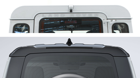 Land Rover Defender upper roof line