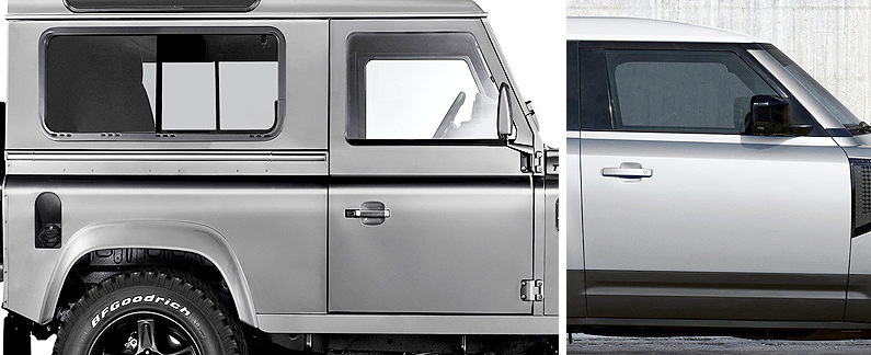 Land Rover Defender door handle positioning