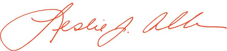 Leslie Allen signature