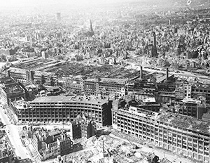 war-damaged factory